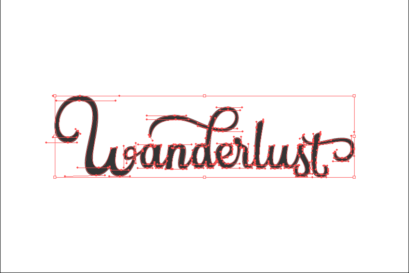 """Wanderlust"" lettering 3"