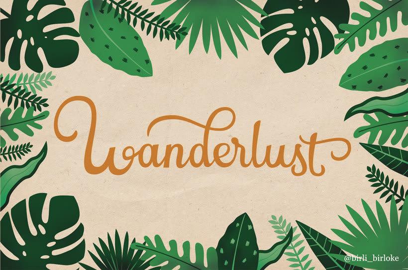 """Wanderlust"" lettering 1"