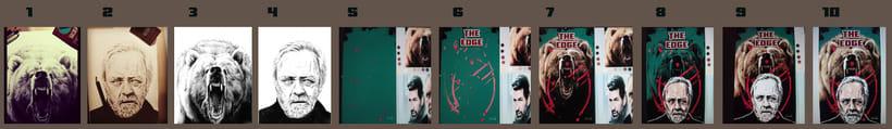 """Mi Proyecto del curso: Ilustración artística y comercial:  """" THE EDGE""""o"""" EL DESAFIO"""". -1"""