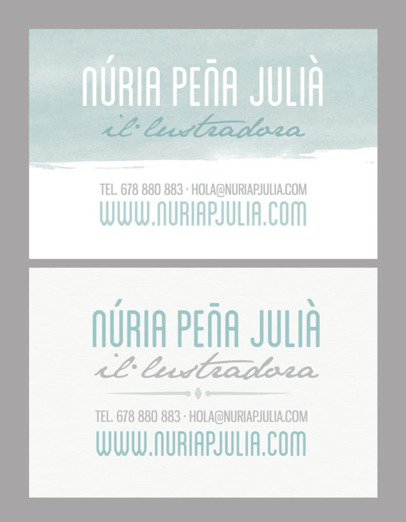 Núria Peña Julià :: Diseño y maquetación web + tarjetas de visita 3