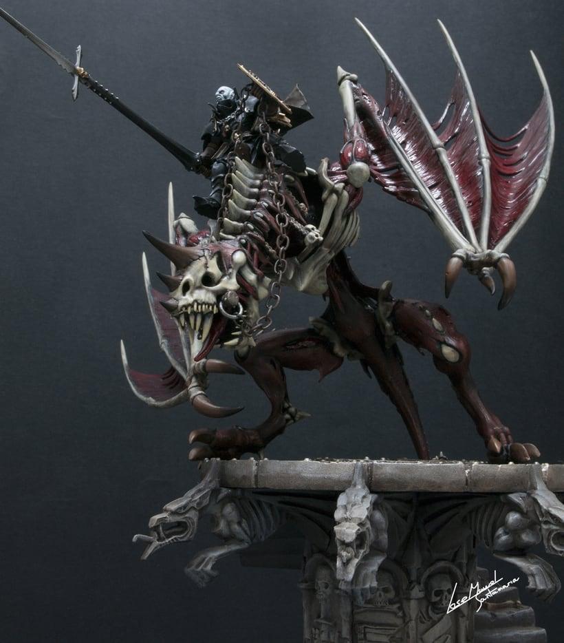 Vampire count on zombie dragon / Conde vampiro en dragón zombi  -1