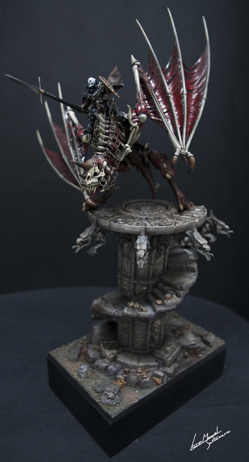 Vampire count on zombie dragon / Conde vampiro en dragón zombi  1