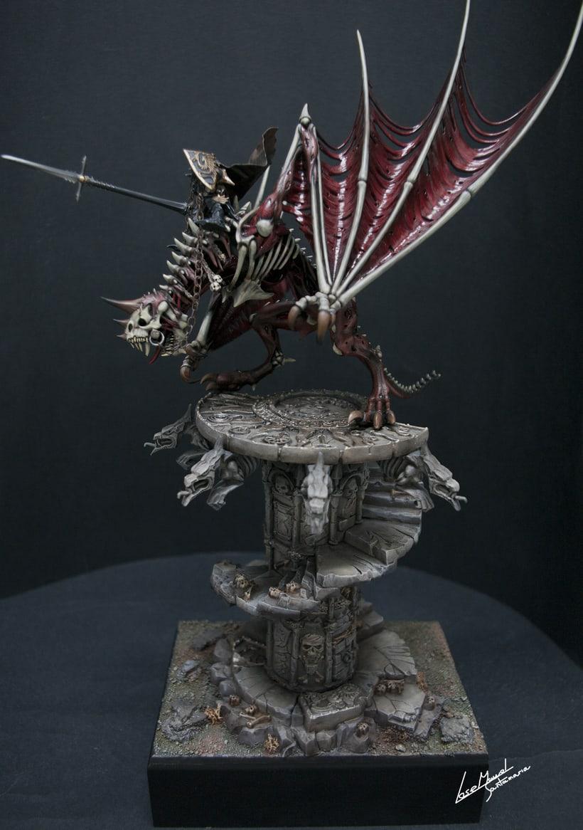 Vampire count on zombie dragon / Conde vampiro en dragón zombi  2