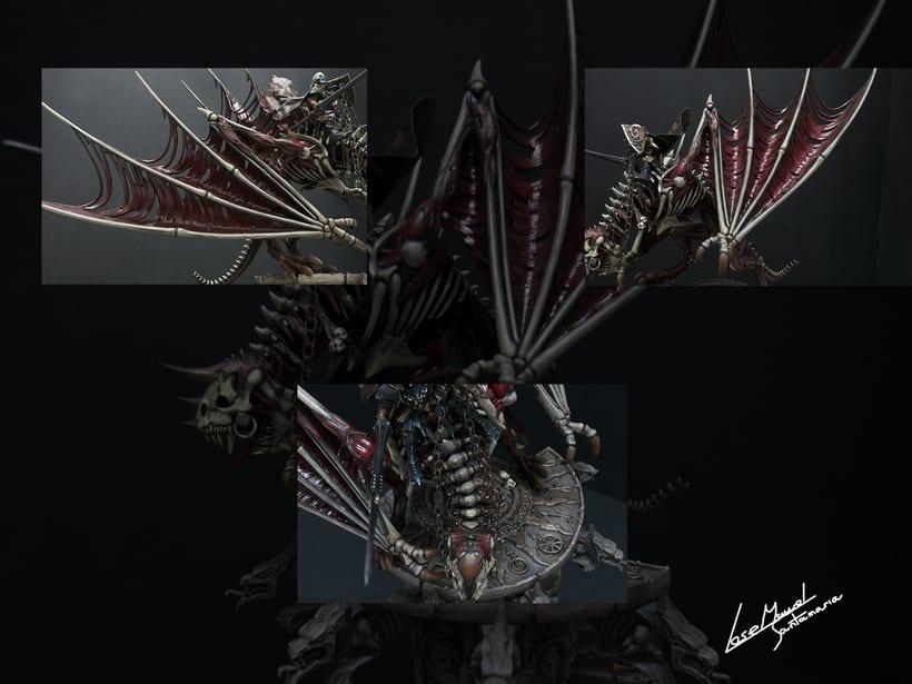 Vampire count on zombie dragon / Conde vampiro en dragón zombi  4
