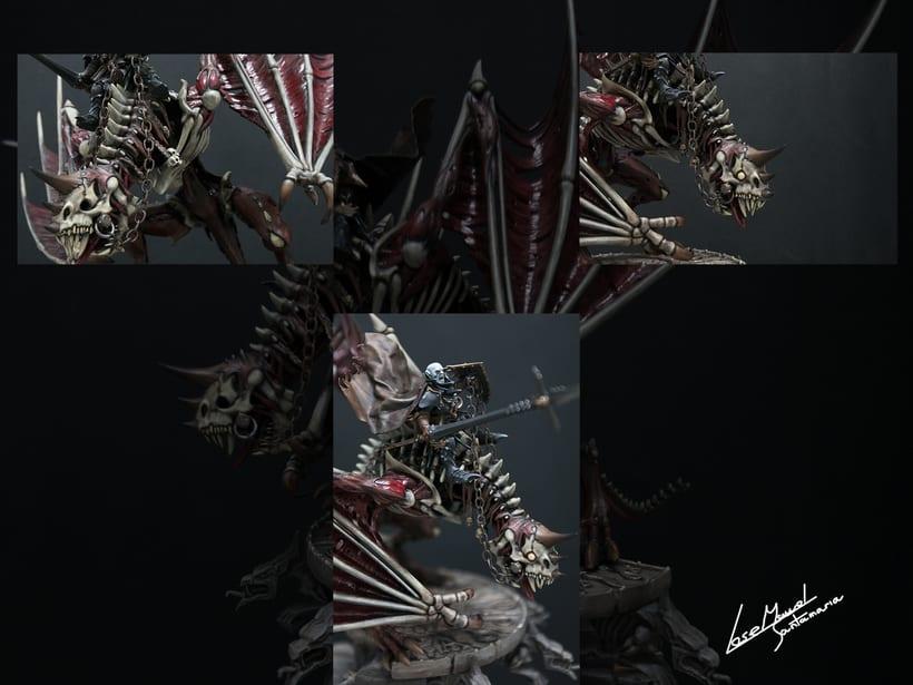 Vampire count on zombie dragon / Conde vampiro en dragón zombi  5