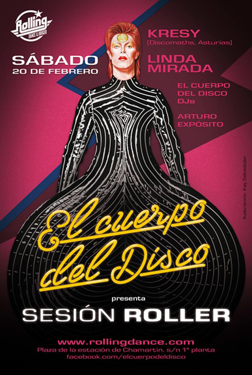 Diseño Sesión Roller de El Cuerpo del Disco. Febrero 1