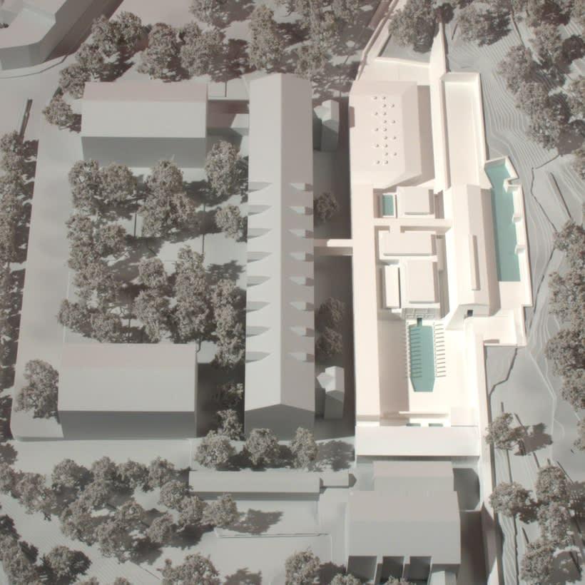 Maqueta Centro Termolúdico de Amélie-Les Bains. Patxi Mangado 0