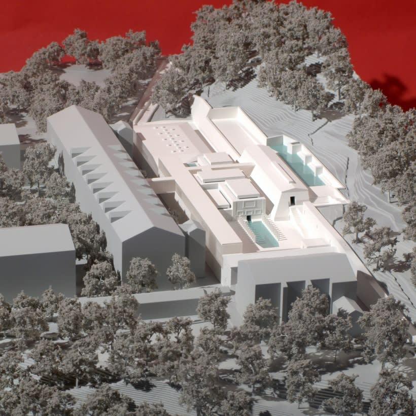 Maqueta Centro Termolúdico de Amélie-Les Bains. Patxi Mangado 1