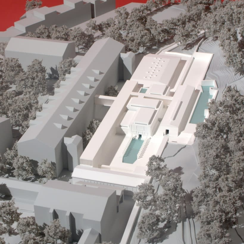 Maqueta Centro Termolúdico de Amélie-Les Bains. Patxi Mangado 2