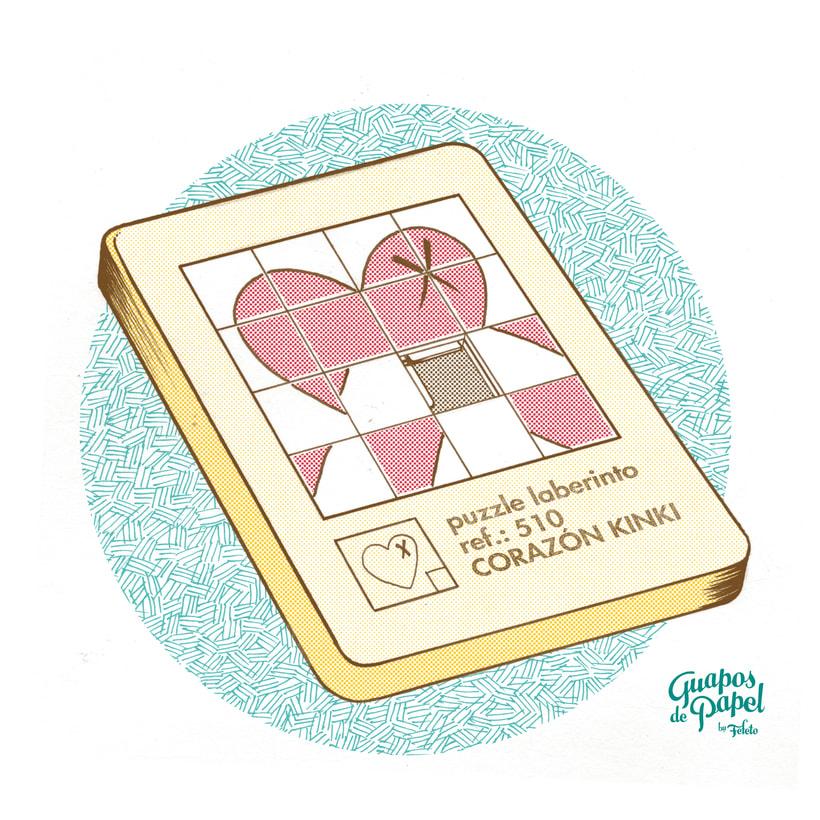 Corazón Kinki - Puzzle Laberinto -1