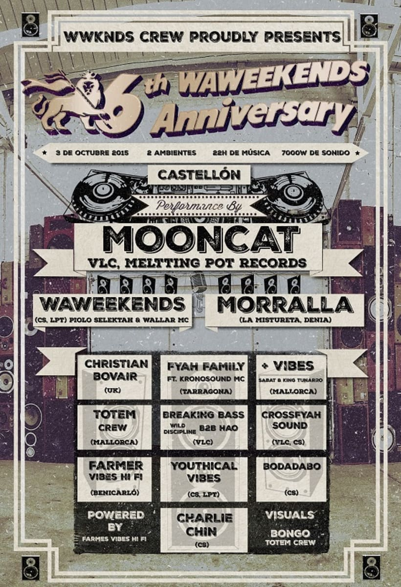WAWEEKENDS 6th Anniversary Flyer -1