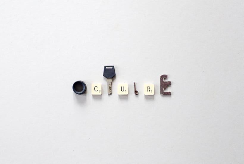 Tipografía de Objetos Encontrados 5