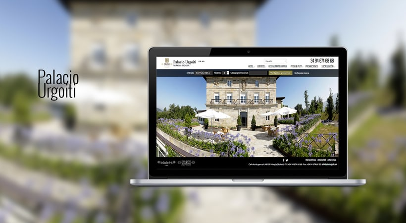 Diseño web: Palacio Urgoiti 1