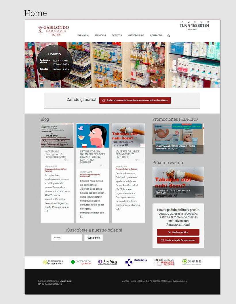 Diseño web: Farmacia Gabilondo 1