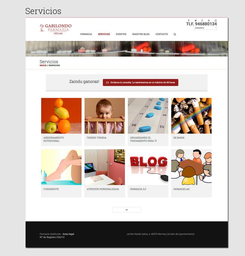 Diseño web: Farmacia Gabilondo 3