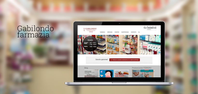 Diseño web: Farmacia Gabilondo 0