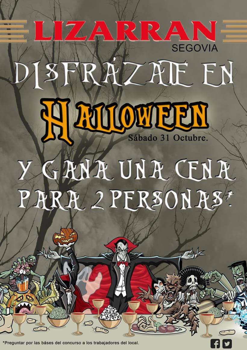 Cartel para Lizarran en Halloween -1