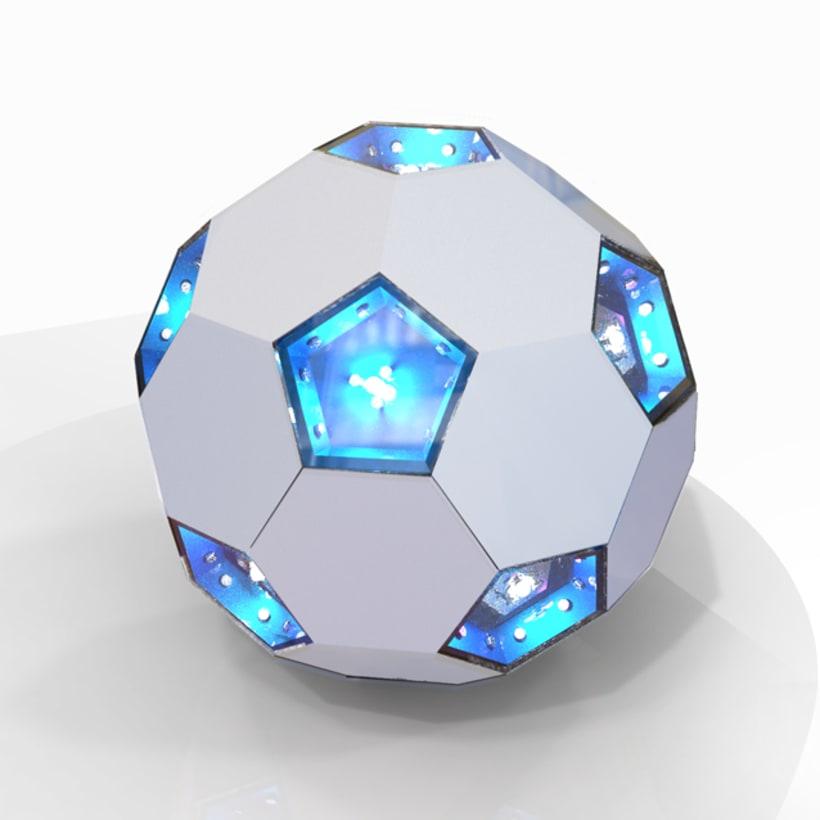 Futbol - lampara solar  -1