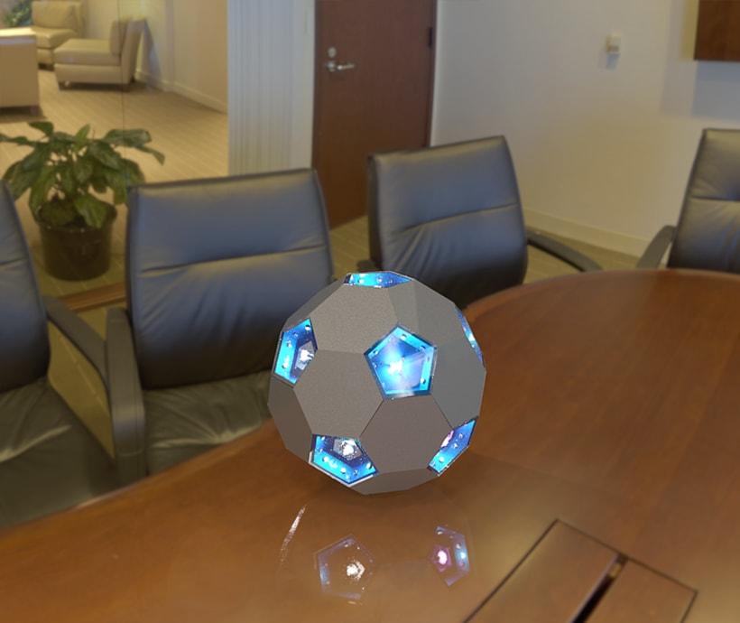 Futbol - lampara solar  1