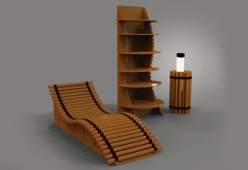 Chaise long convertible en una estanter a y lampara domestika - Lampara estanteria ...