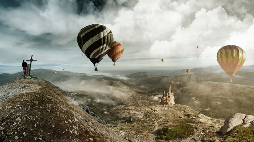 Air Ballons - Matte Painting 0