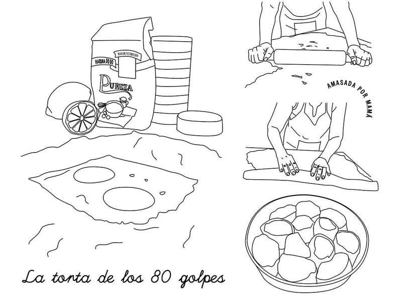 """""""Los 80 golpes"""" bordado para un cuento de Alfina Fontana 13"""