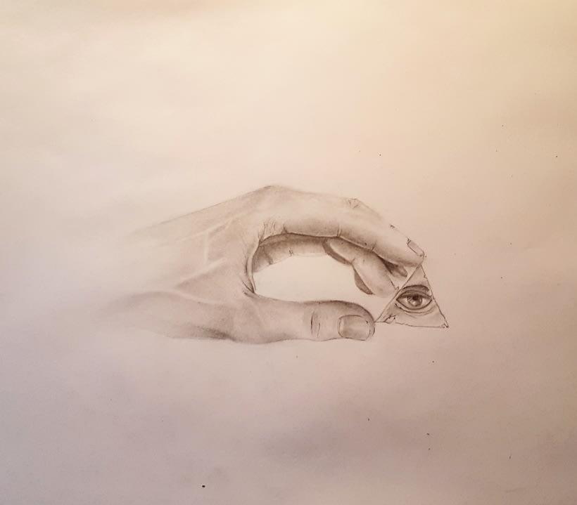 Dibujo a lápiz. Mano -1
