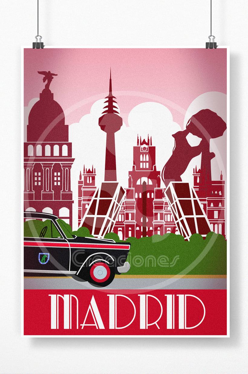 Poster retro de Madrid -1