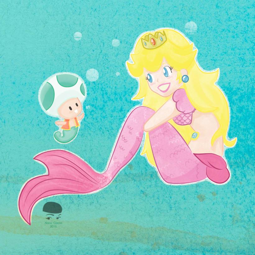 Princess Mermaid Peach 0
