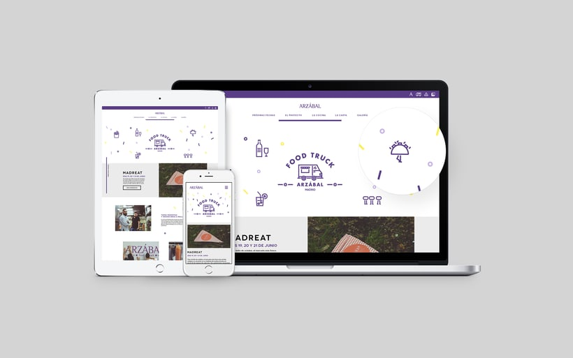 Arzábal Food Truck Branding & Website 8