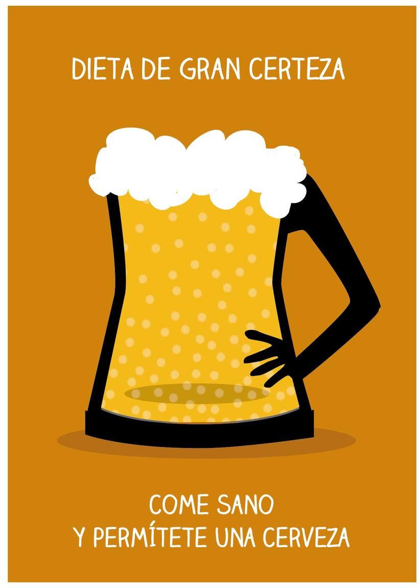 Piensa en la cerveza con cabeza 1