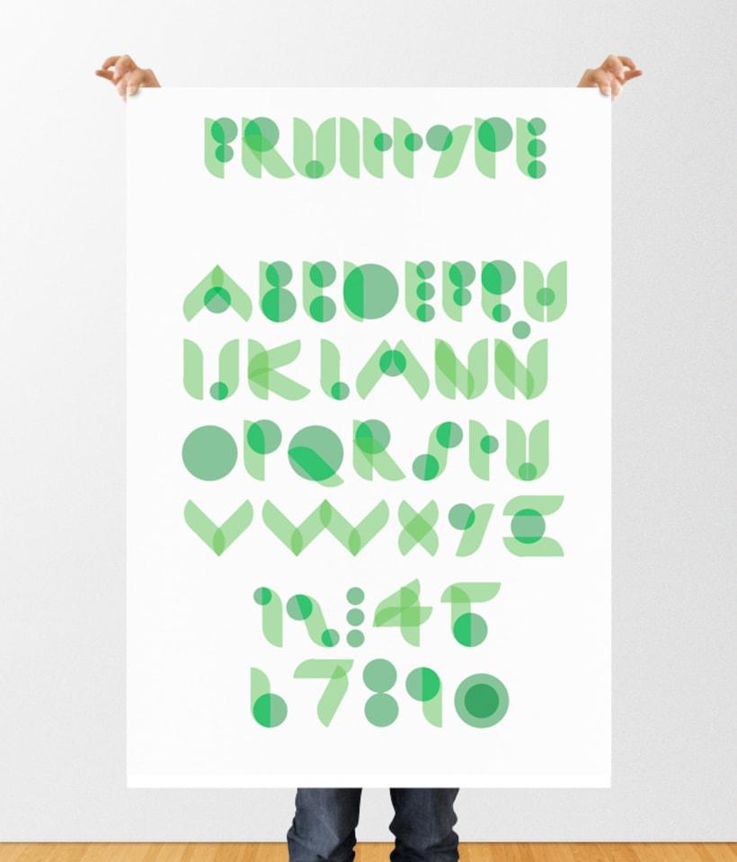 Tipografía modular - Fruitype 2