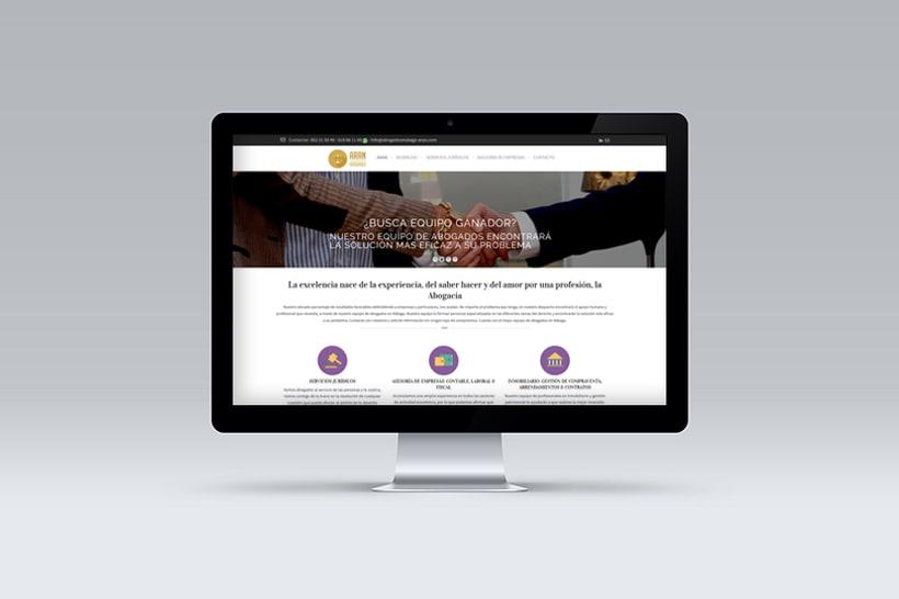 Diseño y Desarrollo web ARAN ABOGADOS MALAGA 0