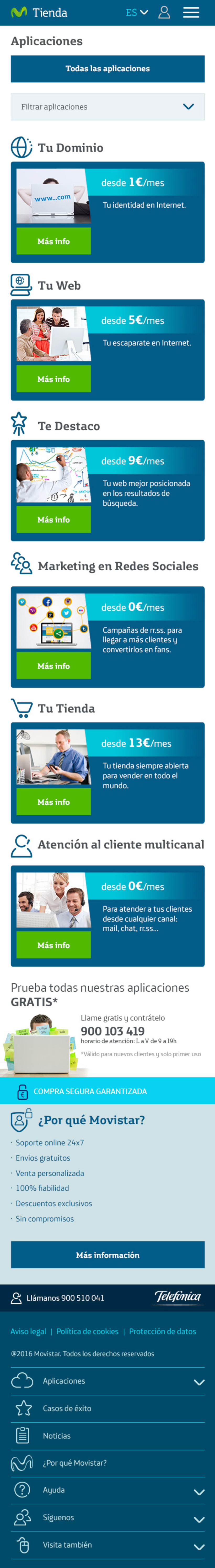 Marketplace servicios cloud 24