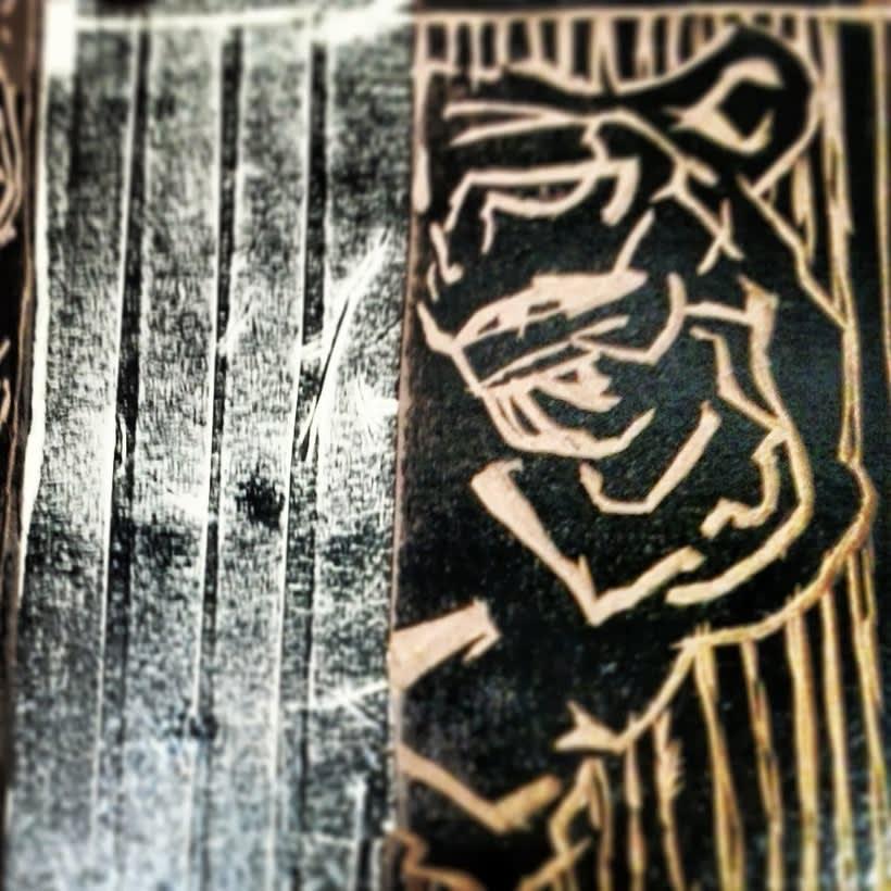 Linóleos y xilografías. 2010 0