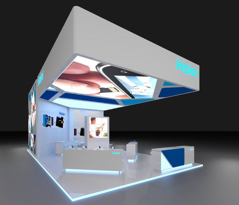 Diseño del stand para la empresa Haier, para el MWC-2016 -1