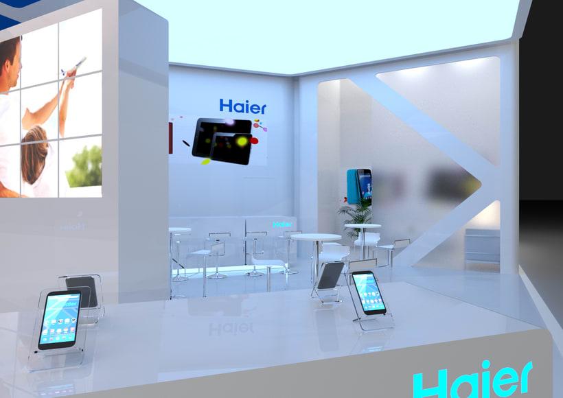Diseño del stand para la empresa Haier, para el MWC-2016 1