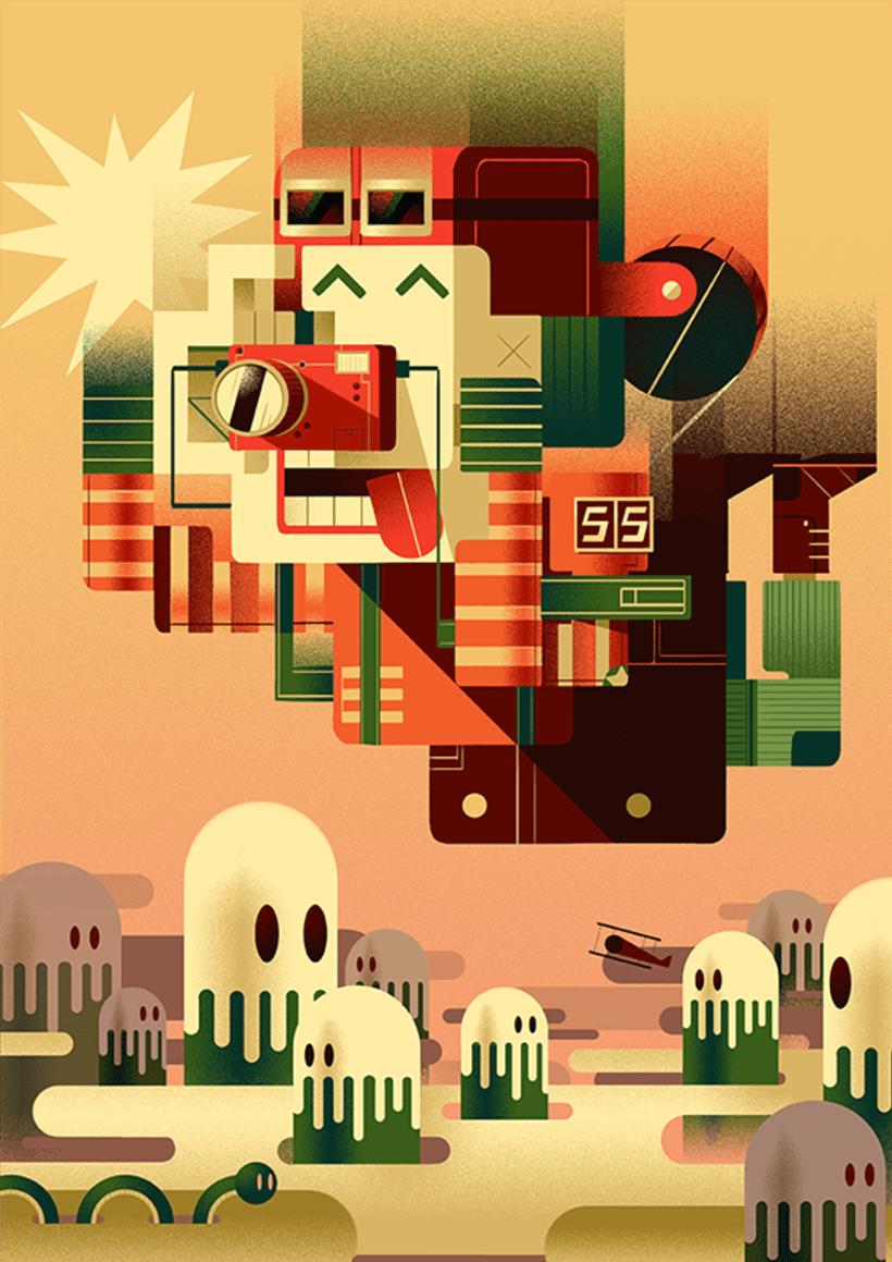 Gabriela Zurda y su cubismo animado  3