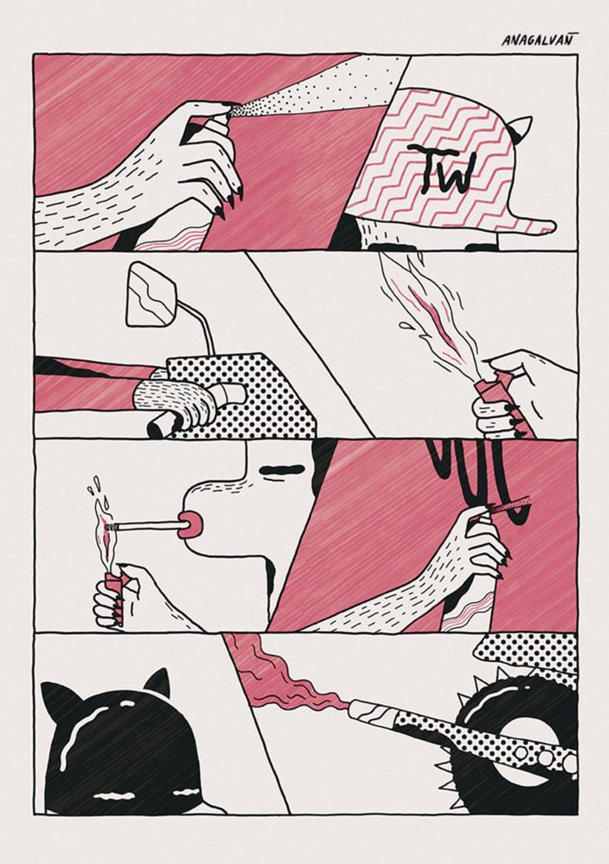 Disfruta de irreales situaciones con los cómics de Ana Galvañ  10