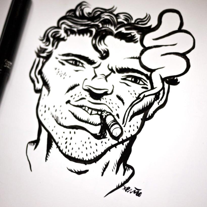 Dibujos que hago en menos de 5 minutos para calentar la mano o el cerebro -1