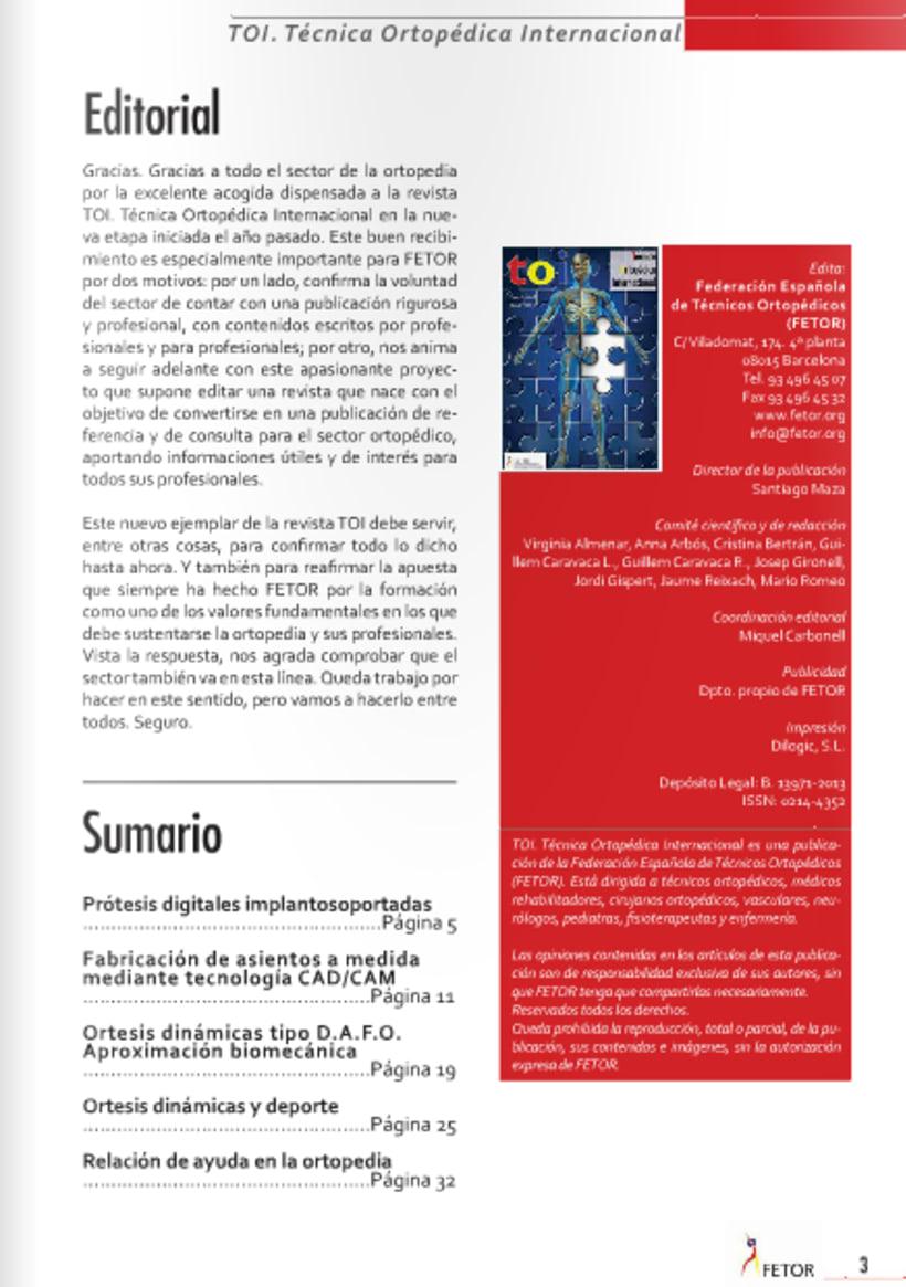 Diseño y maquetación de revista técnica FETOR 1