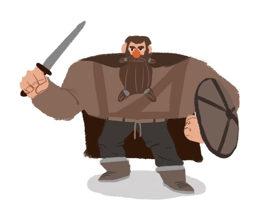 "Diseño personajes ""Vikingo"" 4"