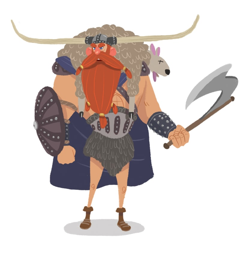 "Diseño personajes ""Vikingo"" 6"