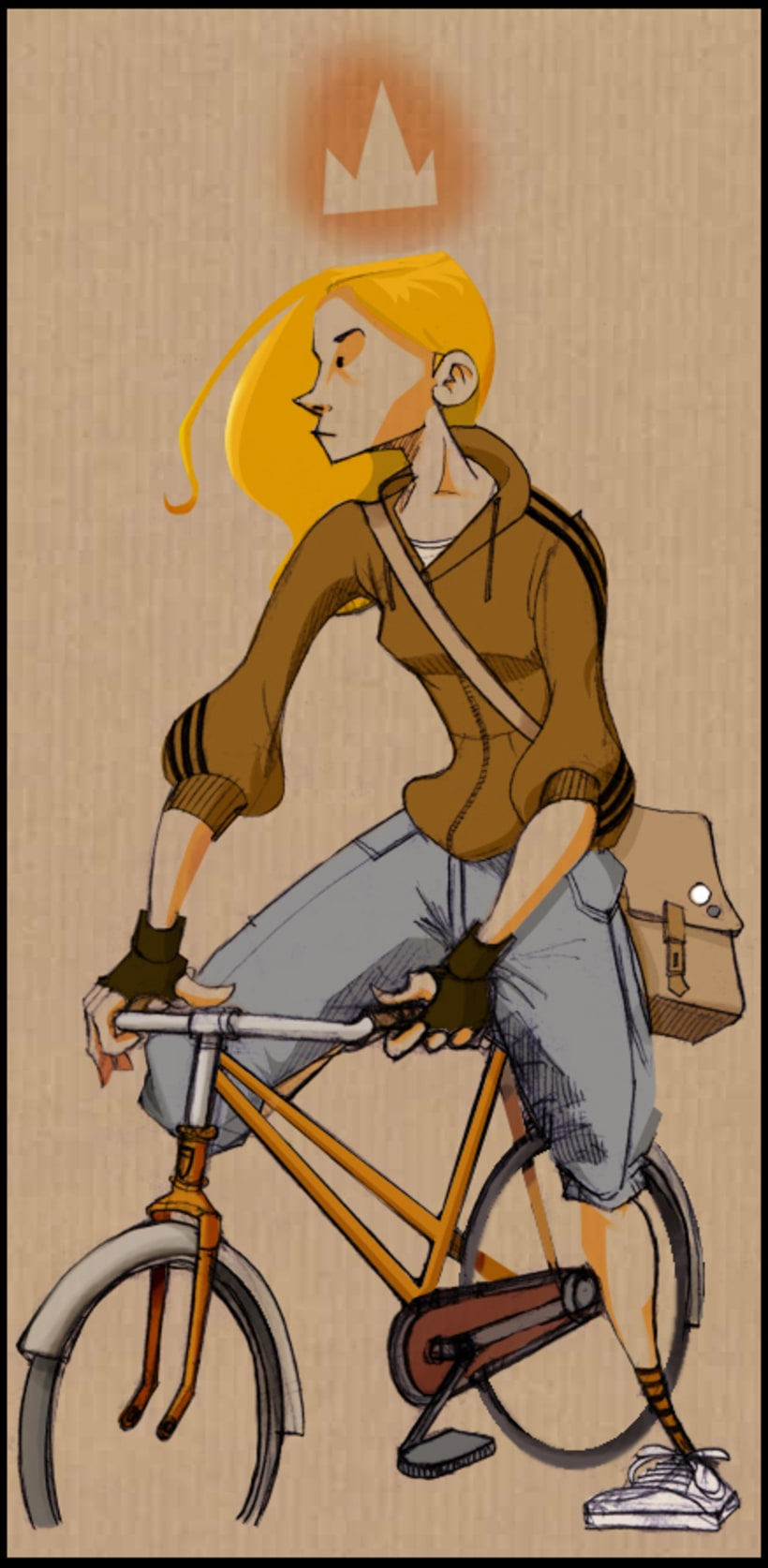 Girl on a bike! -1