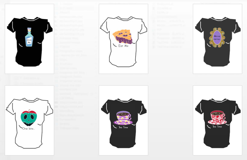 Camisetas Sarie in Enchanted Forest.  0