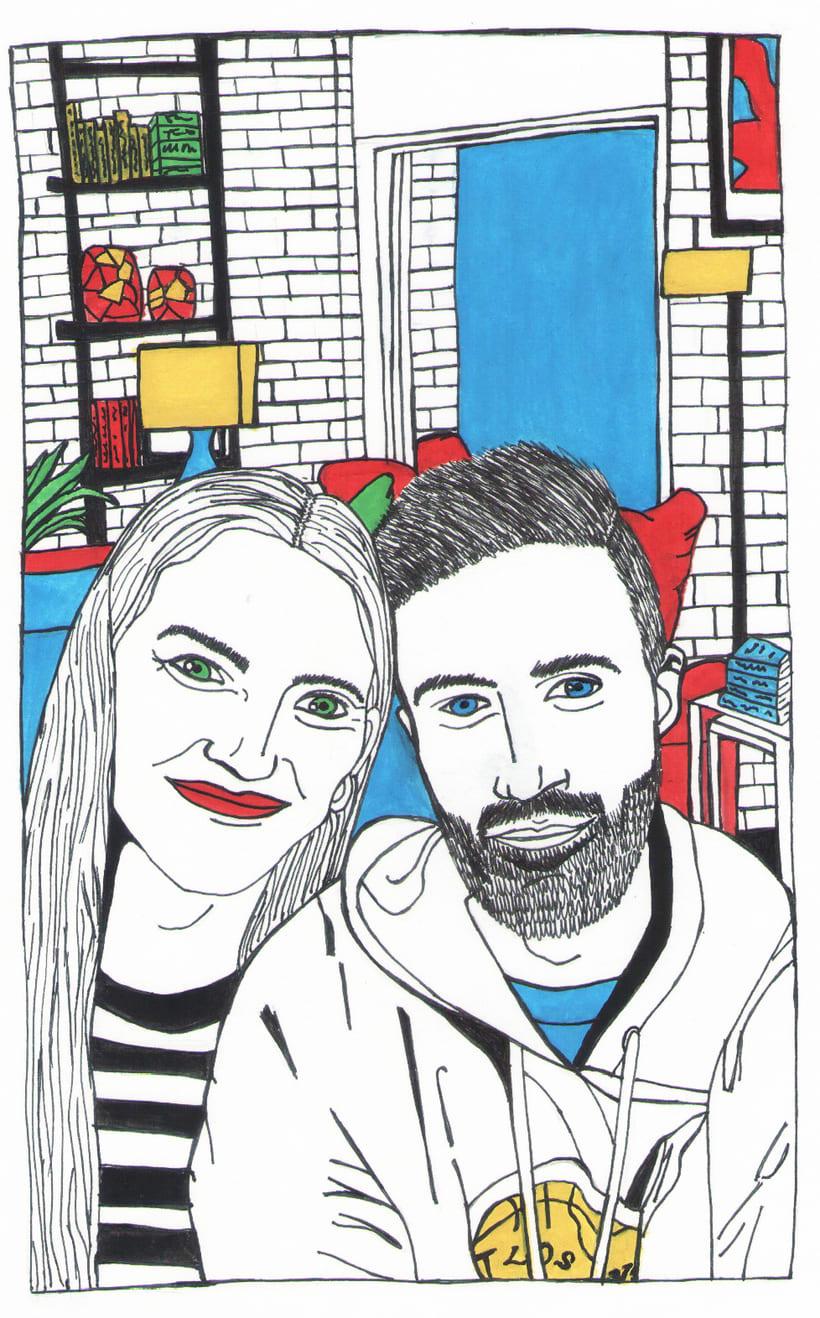 Ilustración vida en pareja. 0