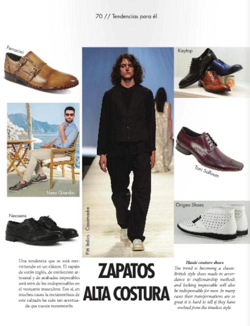 Maquetación de revista de moda 1