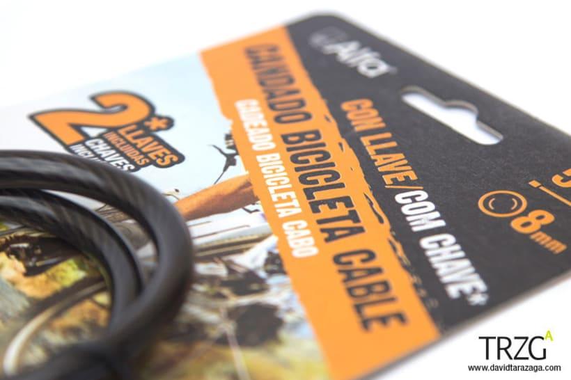 Packaging candados bicicleta y moto 0
