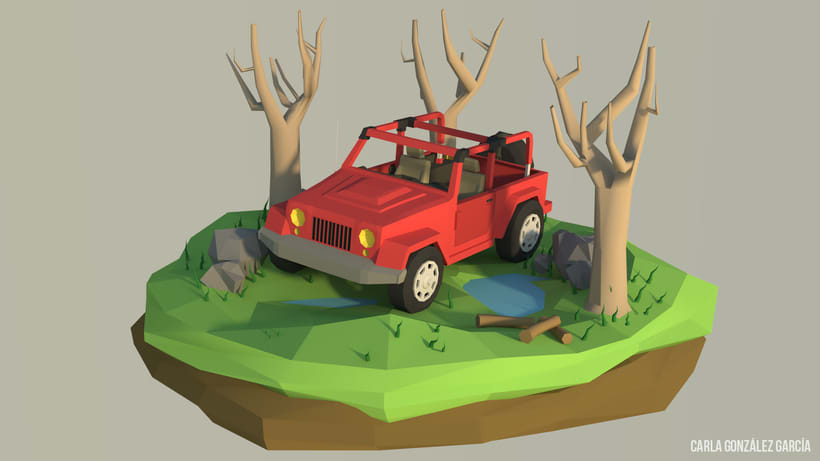 Jeep - Low poly -1