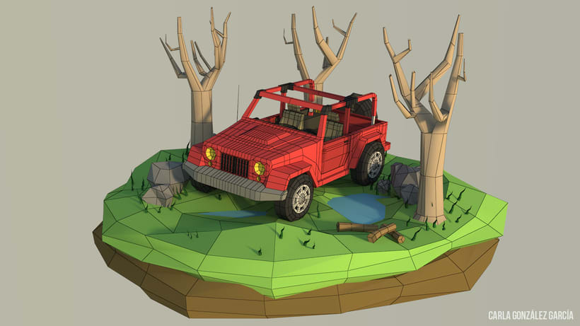 Jeep - Low poly 0